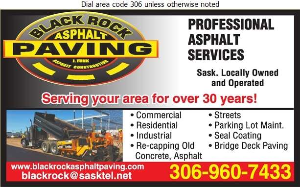 Blackrock Asphalt & Paving - Contractors General Digital Ad