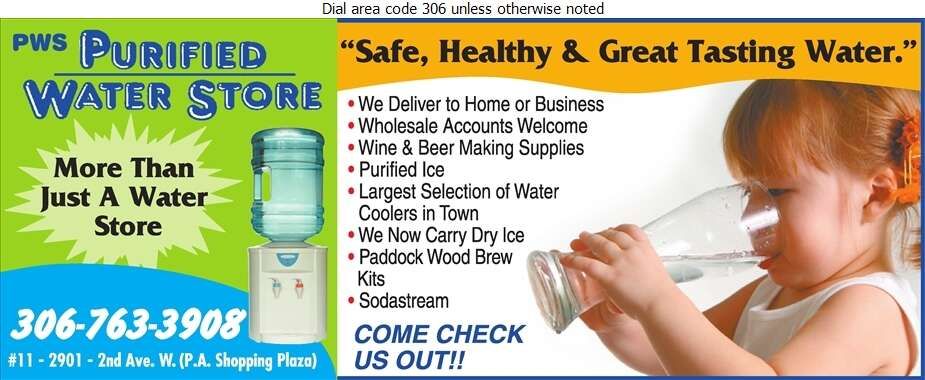 PWS Purified Water Store - Water Companies Bottled, Bulk, Etc. Digital Ad