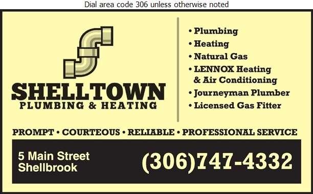 Shell-Town Plumbing & Heating - Plumbing Contractors Digital Ad