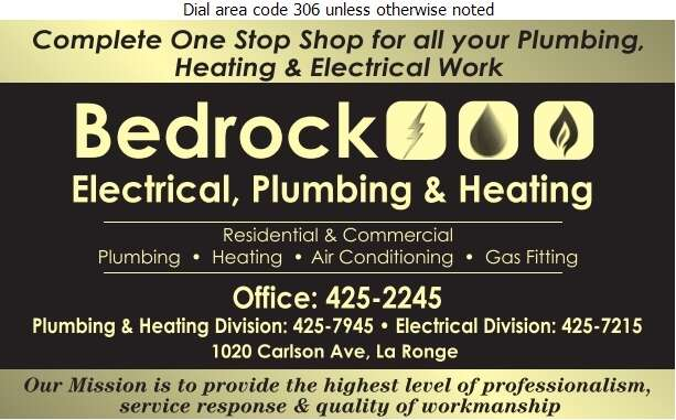 Bedrock Electric Plumbing & Heating - Plumbing Contractors Digital Ad