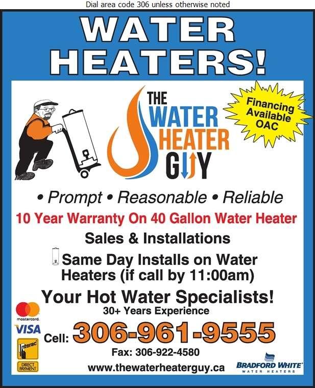 The Water Heater Guy - Plumbing Contractors Digital Ad