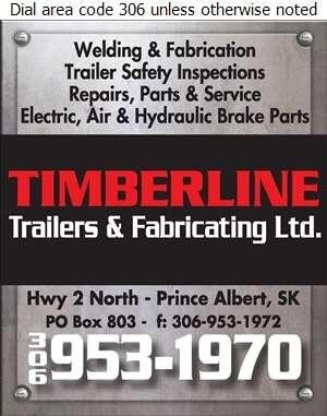 Timberline Trailers & Fabricating Ltd - Trailers Equipment & Parts Digital Ad
