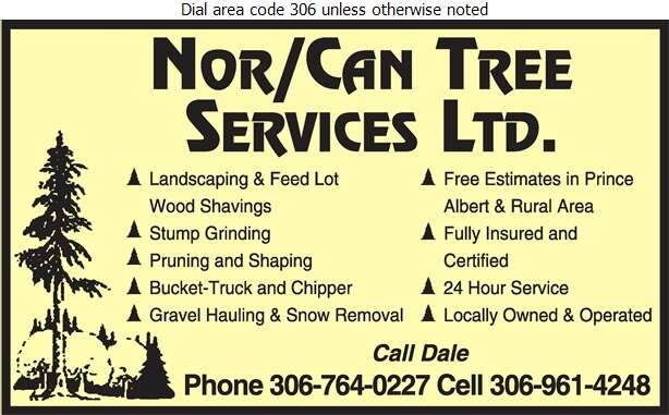 Nor/Can Tree Services - Tree Service & Stump Removal Digital Ad