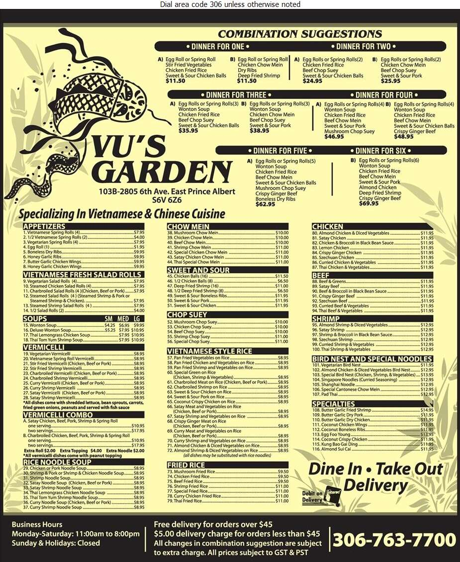 Vu's Garden - Restaurants Digital Ad