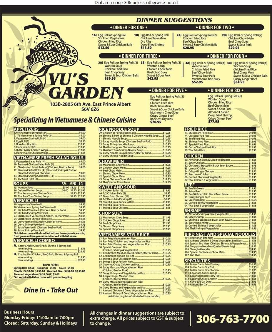 Vu's Garden - Restaurants Digital Ad