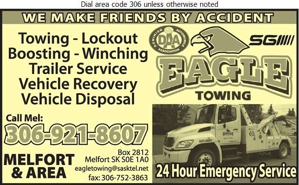 Eagle Towing - Towing & Boosting Service Digital Ad