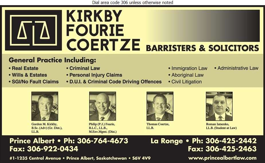 Kirkby Fourie Law Office - Lawyers Digital Ad