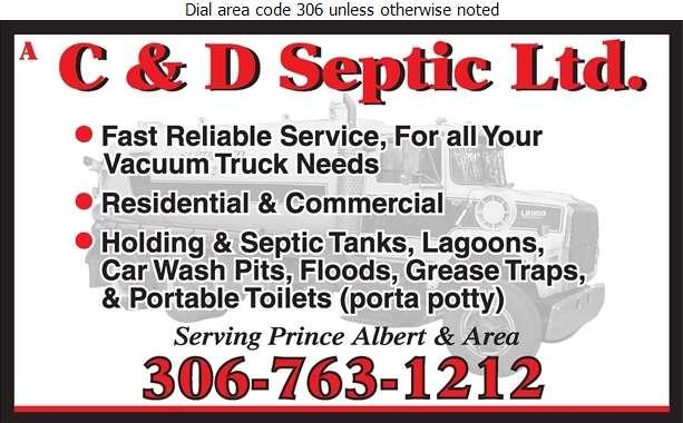 A C & D Septic Ltd - Septic Tanks Sales & Service Digital Ad