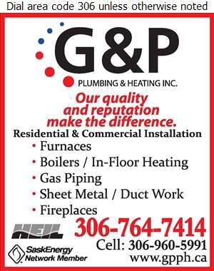 G & P Plumbing & Heating Inc - Heating Contractors Digital Ad