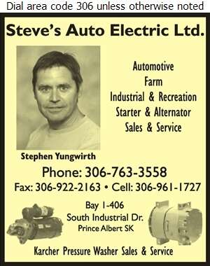 Steve's Auto Electric Ltd - Auto Parts & Supplies Retail Digital Ad