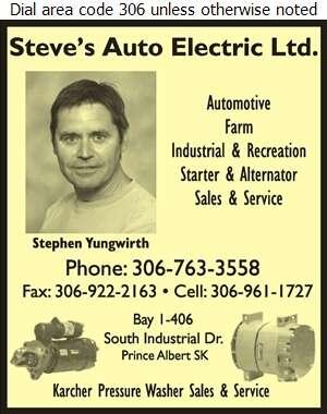 Steve's Auto Electric Ltd - Auto Parts & Supplies Retail Digital Ad
