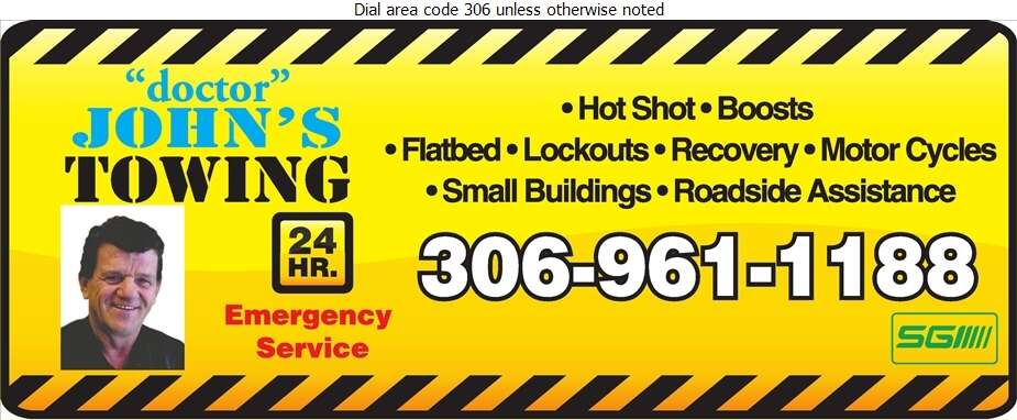Doctor John's Towing - Towing & Boosting Service Digital Ad