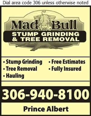 Mad Bull Stump Grinding & Tree Removal - Tree Service & Stump Removal Digital Ad
