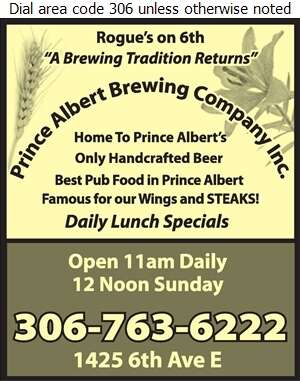 Prince Albert Brewing Company Inc - Brew Pubs Digital Ad