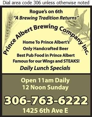 Prince Albert Brewing Company Inc - Restaurants Digital Ad