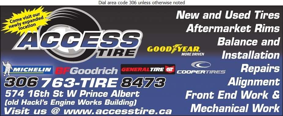 Access Tire - Tire Dealers Retail Digital Ad