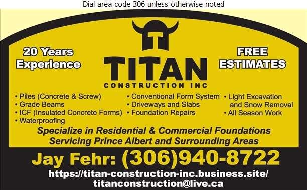 Titan Construction - Concrete Contractors Digital Ad