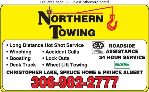 Northern Towing - Towing & Boosting Service Digital Ad