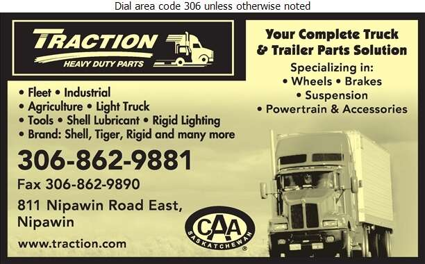 Traction Heavy Duty Parts - Truck Equipment & Parts Digital Ad