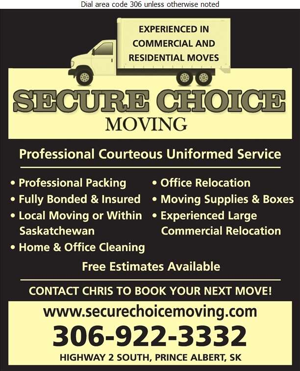 Secure Choice Moving & Storage - Movers Digital Ad