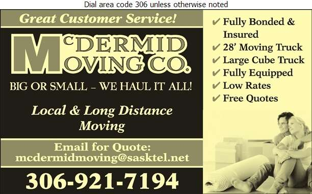 McDermid Moving Co - Movers Digital Ad