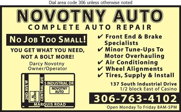 Novotny Auto - Auto Repairing Digital Ad