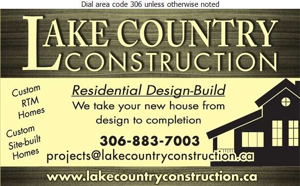 Lake Country Construction - Contractors General Digital Ad
