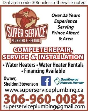 Super Service Plumbing & Heating Ltd - Water Heaters Dealers Digital Ad