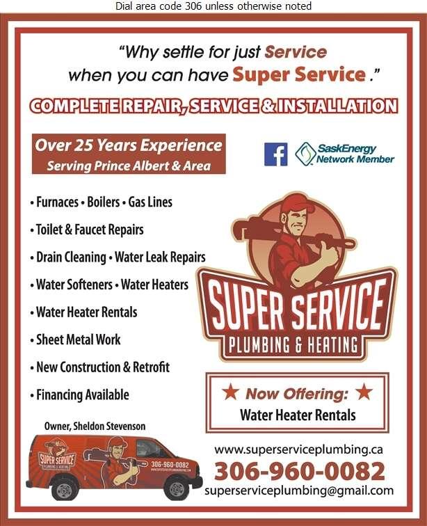 Super Service Plumbing & Heating Ltd - Plumbing Contractors Digital Ad