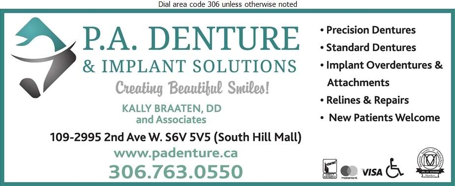 PA Denture & Implant Solutions (South Hill Mall) - Denturists Digital Ad