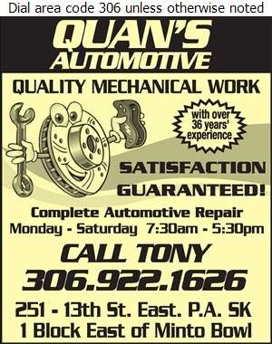 Quan's Automotive - Auto Repairing Digital Ad