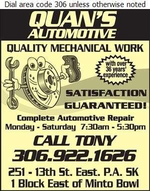 Quan's Automotive - Auto Repairing Digital Ad