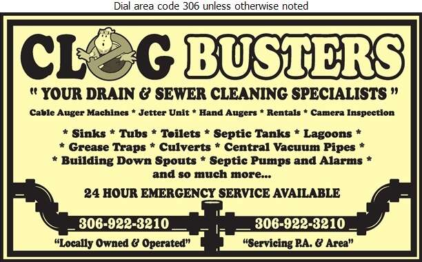 Clog Busters - Sewer Contractors Digital Ad
