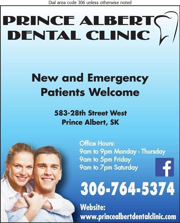 Prince Albert Dental Clinic - Dentists Digital Ad