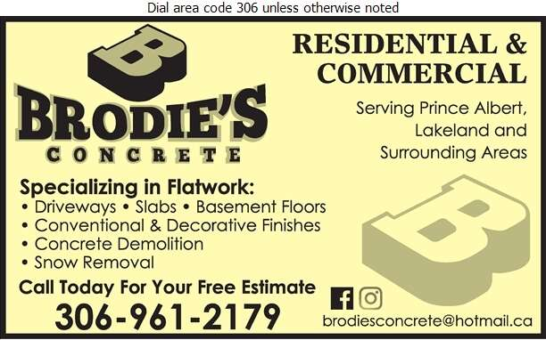 Brodie's Concrete - Concrete Contractors Digital Ad