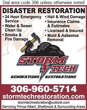 Storm Tech Renovations and Restorations - Flood Damage Restoration & Floodproofing Digital Ad