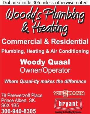 Woody's Plumbing and Heating - Plumbing Contractors Digital Ad