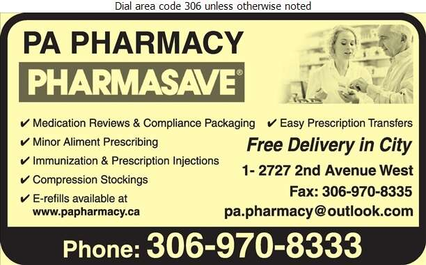 PA Pharmacy Pharmasave - Pharmacies Digital Ad
