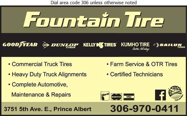 Fountain Tire - Auto Repairing Digital Ad