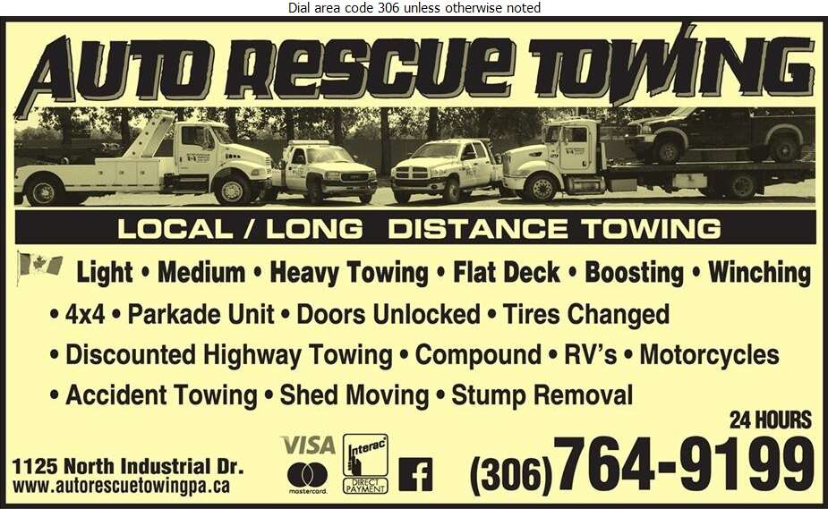 Auto Rescue Towing - Towing & Boosting Service Digital Ad