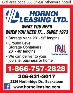 Hornoi Leasing Ltd - Containers- Transportation & Storage Digital Ad