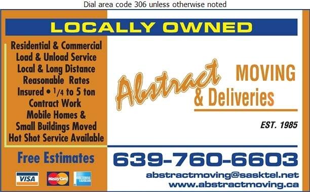 Abstract Moving & Delivery - Movers Digital Ad