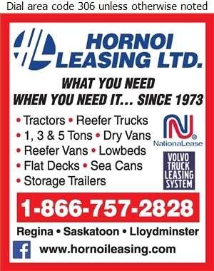 Hornoi Leasing Ltd - Trailers Renting & Leasing Digital Ad