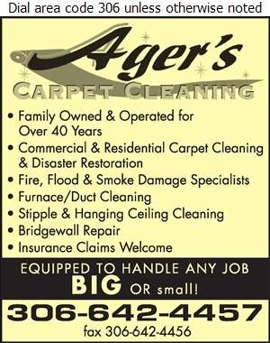 Ager's Carpet Cleaning & Restoration Inc (Larry Ager) - Carpet & Rug Cleaners Digital Ad
