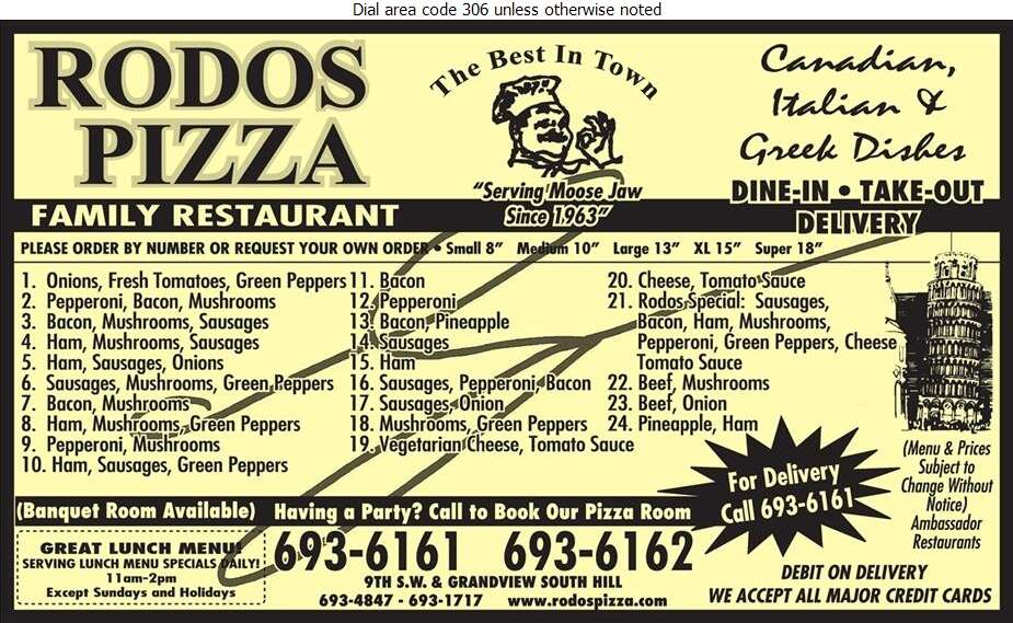 Rodos Pizza - Pizza Digital Ad