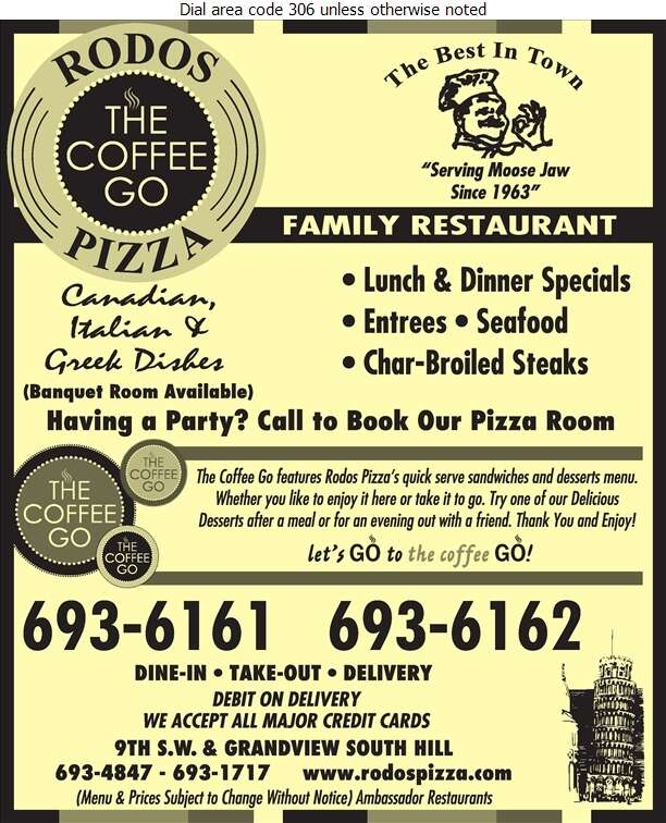 Rodos Pizza - Restaurants Digital Ad