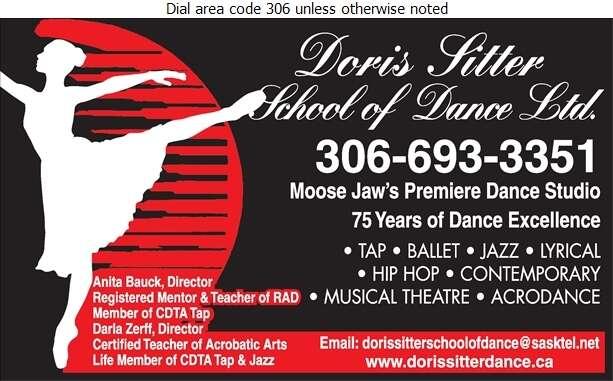 Doris Sitter School Of Dance - Dancing Studios Digital Ad