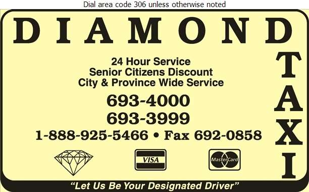 Diamond Taxi - Taxicabs Digital Ad