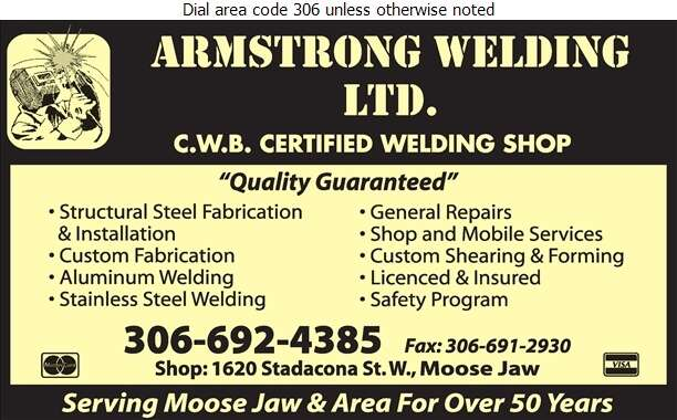 Armstrong Welding Ltd - Welding Digital Ad