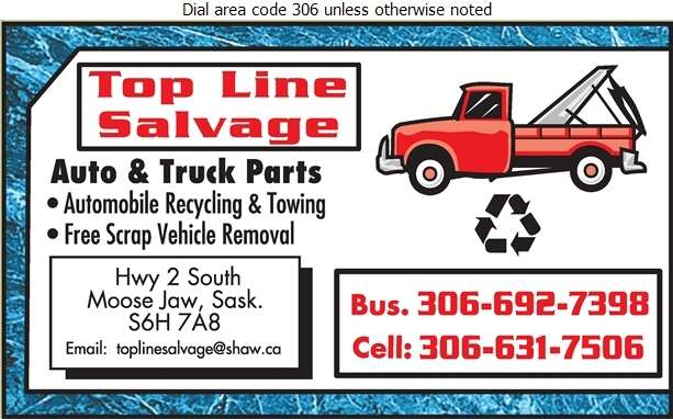 Top Line Salvage - Auto Wrecking Digital Ad